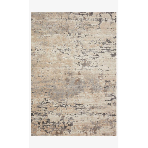Theory Taupe and Gray Rectangle: 3 Ft. 7 In. x 5 Ft. 7 In. Rug