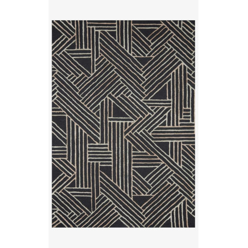 Verve Charcoal and Neutral Rectangle: 3 Ft. 6 In. x 5 Ft. 6 In. Rug