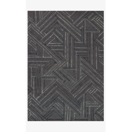 Verve Graphite and Ocean Rectangle: 7 Ft. 9 In. x 9 Ft. 9 In. Rug
