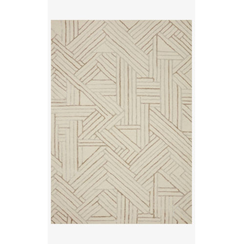 Verve Ivory and Oatmeal Runner: 2 Ft. 3 In. x 9 Ft. 9 In.
