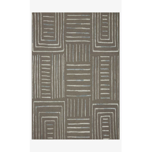 Verve Gray and Mist Rectangle: 2 Ft. 3 In. x 3 Ft. 9 In. Rug