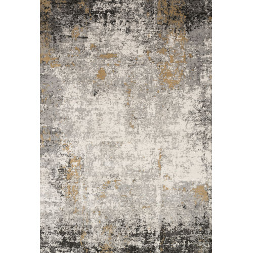 Alchemy Granite and Gold 5 Ft. 3 In. x 7 Ft. 6 In. Rectangular Rug