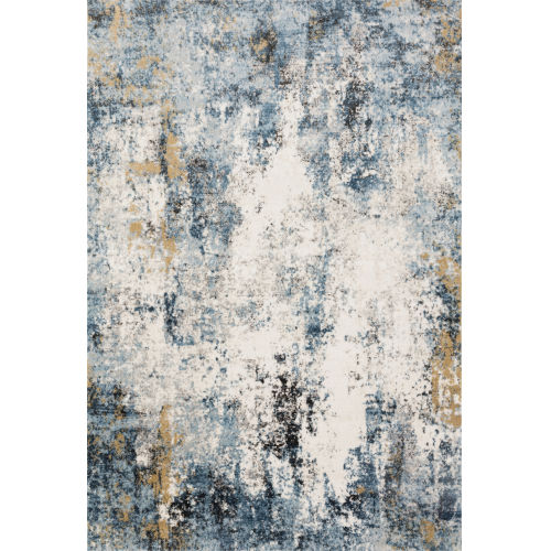 Alchemy Denim and Ivory 7 Ft. 11 In. x 10 Ft. 6 In. Rectangular Rug