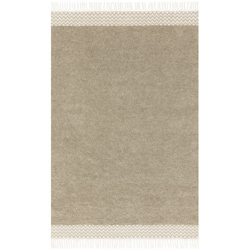 Aries Oatmeal Rectangular: 3 Ft. 6 In. x 5 Ft. 6 In. Rug