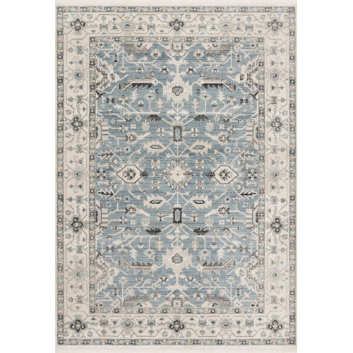 Athena Sky and Ivory 7 Ft. 9 In. x 10 Ft. Power Loomed Rug