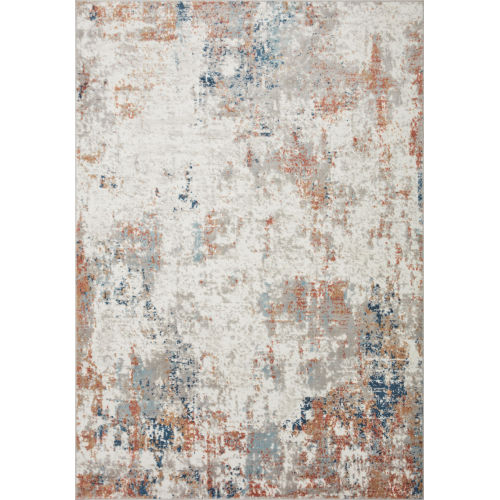 Bianca Ivory, Spice and Blue 5 Ft. 3 In. x 7 Ft. 6 In. Area Rug