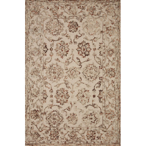 Halle Taupe Rust Rectangular: 5 Ft. x 7 Ft. 6 In. Rug