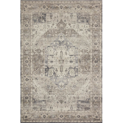 Hathaway Steel Ivory Rectangular: 3 Ft. 6 In. x 5 Ft. 6 In. Rug