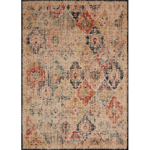 Jocelyn Khaki Multicolor Rectangular: 7 Ft. 10 In. x 10 Ft. Rug