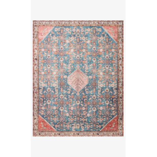 Layla Marine and Clay Rectangular: 2 Ft. 6 In. x 12 Ft. Area Rug