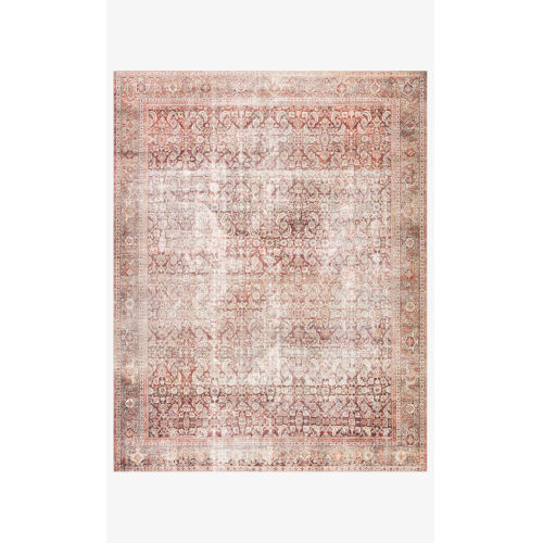 Layla Cinnamon and Sage Rectangular: 2 Ft. 6 In. x 7 Ft. 6 In. Area Rug