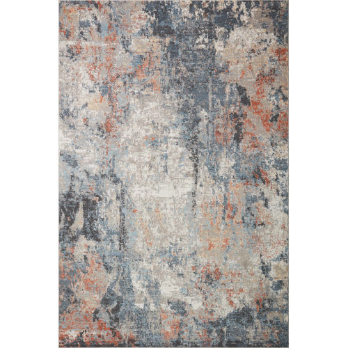 Maeve Silver and Apricot 2 Ft. x 3 Ft. Area Rug