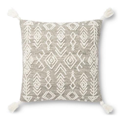 Justina Blankeney Gray Ivory 22 x 22 Inch Pillow
