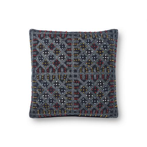 Justina Blankeney Navy Multicolor 18 x 18 Inch Pillow