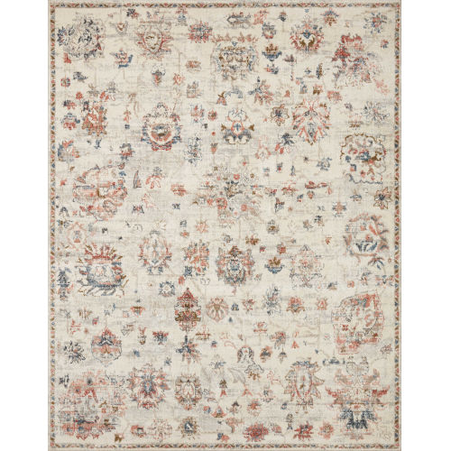 Saban Ivory, Blue and Spice 7 Ft. 10 In. x 10 Ft. Area Rug