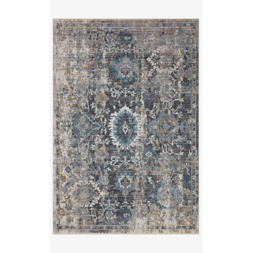 Samra Gray and Multicolor Rectangular: 9 Ft. 6 In. x 13 Ft. 1 In. Area Rug