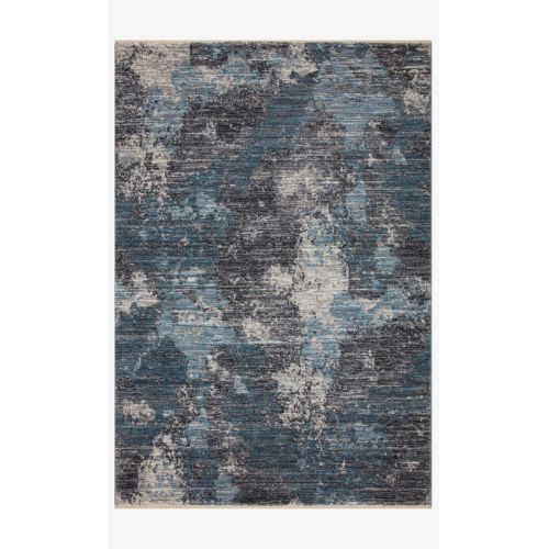 Samra Dove and Sky Rectangular: 9 Ft. 6 In. x 13 Ft. 1 In. Area Rug