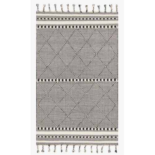 Sawyer Black Rectangular: 2 Ft. 3 In. x 3 Ft. 9 In. Area Rug