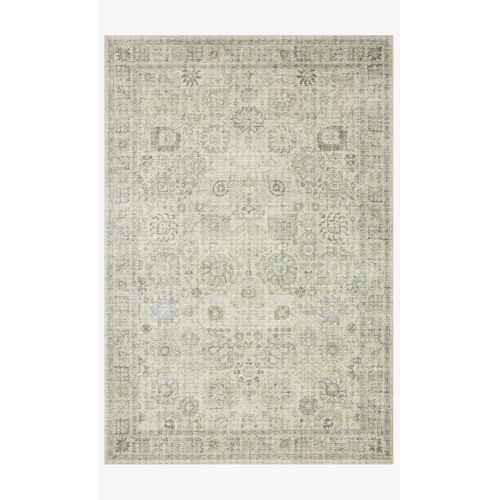 Skye Natural and Sage Rectangular: 3 Ft. 6 In. x 5 Ft. 6 In. Area Rug