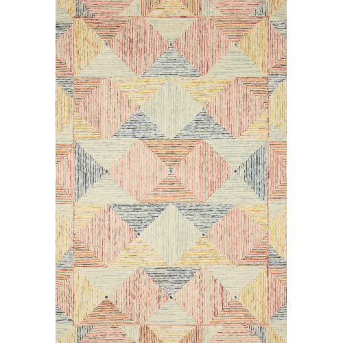 Spectrum Ivory Multicolor Rectangular: 8 Ft. 6 In. x 12 Ft. Rug