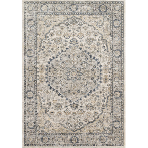 Teagan Natural and Light Gray 2 Ft. 8 In. x 4 In. Rectangular Rug