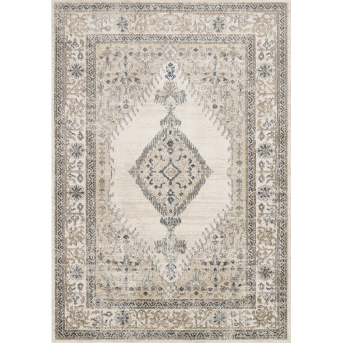 Teagan Oatmeal and Ivory 2 Ft. 8 In. x 13 In. Rectangular Rug