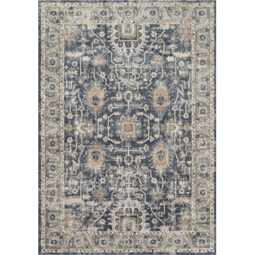 Teagan Denim and Pebble 2 Ft. 8 In. x 10 Ft. 6 In. Rectangular Rug