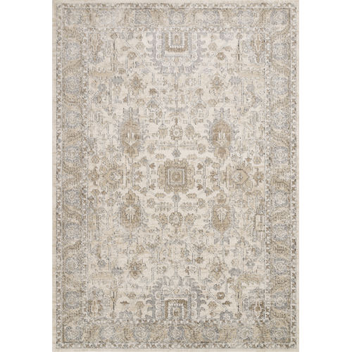 Teagan Ivory and Sand 6 Ft. 7 In. x 9 Ft. 2 In. Rectangular Rug