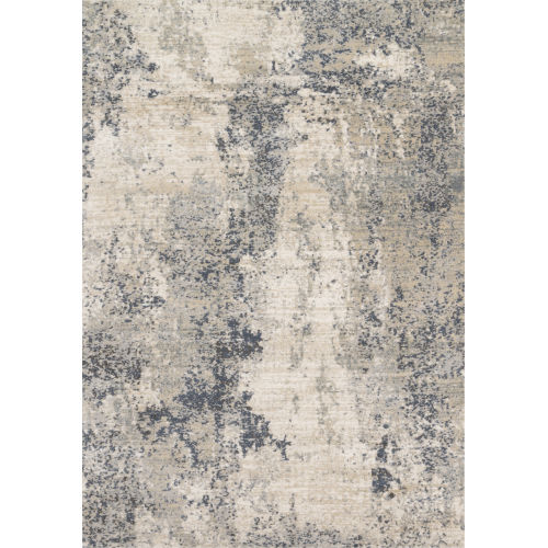 Teagan Natural and Denim 5 Ft. 3 In. x 7 Ft. 6 In. Rectangular Rug