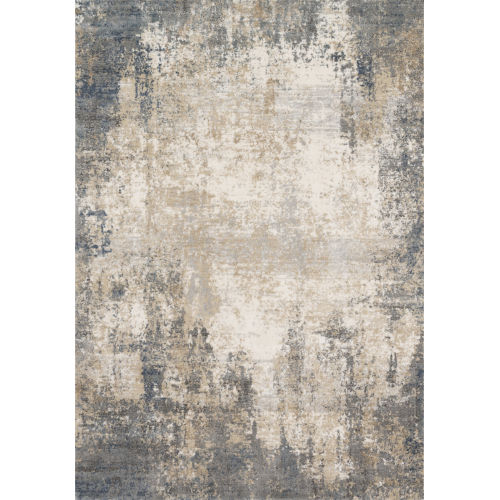 Teagan Ivory and Mist 6 Ft. 7 In. x 9 Ft. 2 In. Rectangular Rug