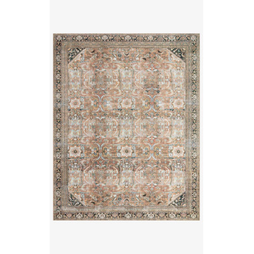 Wynter Auburn and Multicolor Rectangular: 2 Ft. 6 In. x 9 Ft. 6 In. Area Rug