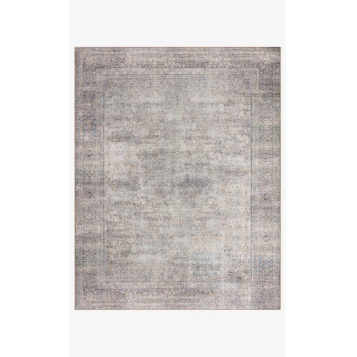 Wynter Silver and Charcoal Rectangular: 2 Ft. 6 In. x 9 Ft. 6 In. Area Rug