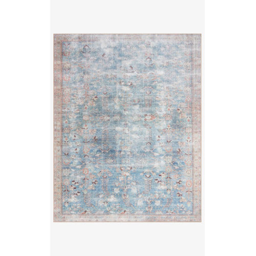 Wynter Teal and Multicolor Rectangular: 2 Ft. 6 In. x 9 Ft. 6 In. Area Rug