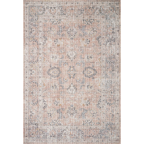 Skye Blush And Gray Rectangular: 7 Ft. 6 In. X 9 Ft. 6 In. Rug