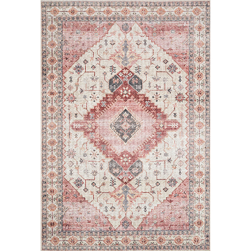 Skye Ivory And Berry Runner: 2 Ft. 6 In. X 7 Ft. 6 In. Runner