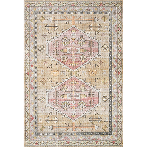 Skye Gold And Blush Rectangular: 7 Ft. 6 In. X 9 Ft. 6 In. Rug