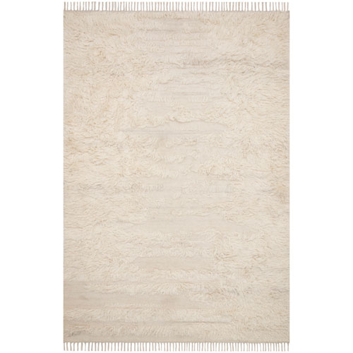 Crafted by Loloi Abbot Natural Ivory Rectangle: 7 Ft. 9 In. x 9 Ft. 9 In. Rug