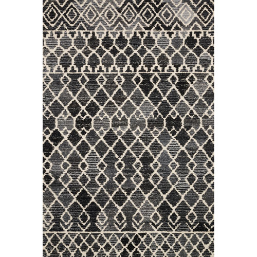 Artesia Charcoal Ivory Square: 1 Ft. 6 In. x 1 Ft. 6 In. Rug - SAMPLE SWATCH ONLY