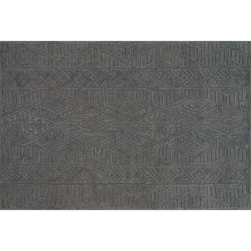 Crafted by Loloi Glendale Grey Rectangle: 2 Ft. 3 In. x 3 Ft. 9 In. Rug