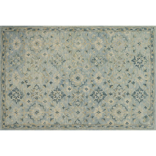 Crafted by Loloi Hawthorne Light Blue Rectangle: 7 Ft. 9 In. x 9 Ft. 9 In. Rug