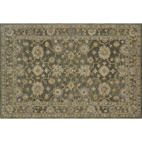 Crafted by Loloi Hawthorne Charcoal Rectangle: 7 Ft. 9 In. x 9 Ft. 9 In. Rug