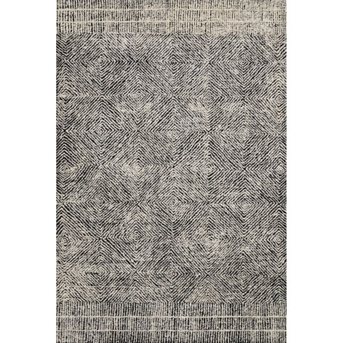 Crafted by Loloi Kopa Black Ivory Rectangle: 7 Ft. 9 In. x 9 Ft. 9 In. Rug