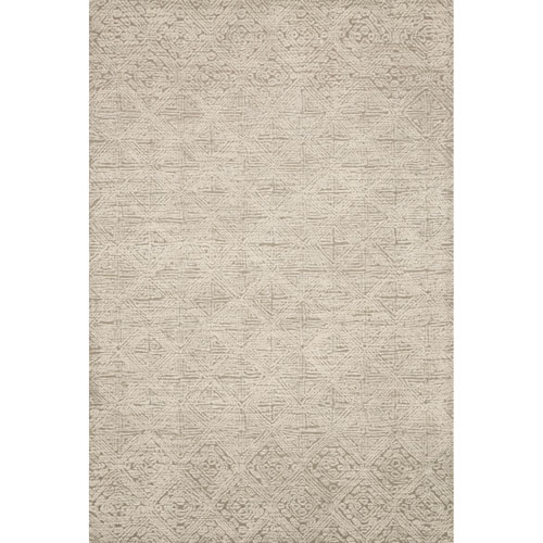 Crafted by Loloi Kopa Taupe Ivory Rectangle: 7 Ft. 9 In. x 9 Ft. 9 In. Rug
