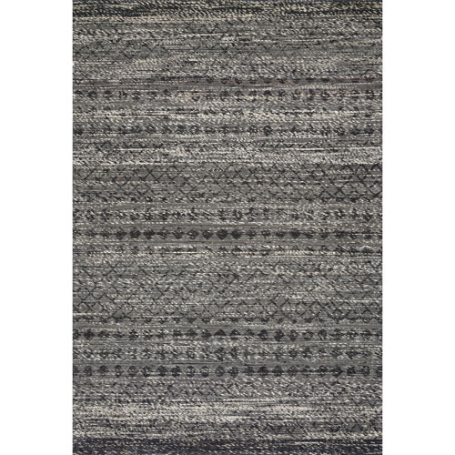 Crafted by Loloi Pomona Graphite Rectangle: 7 Ft. 9 In. x 9 Ft. 9 In. Rug