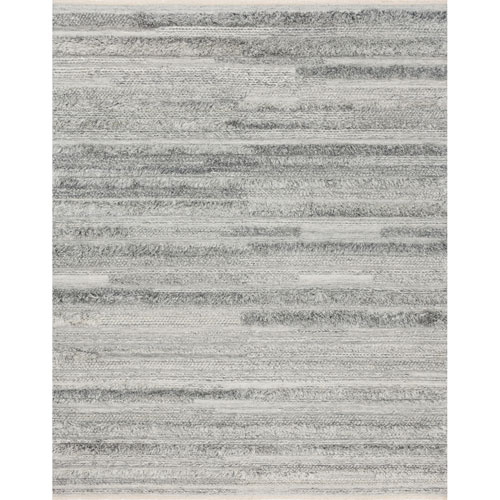 Crafted by Loloi Rodeo Silver Rectangle: 5 Ft. 6 In. x 8 Ft. 6 In. Rug