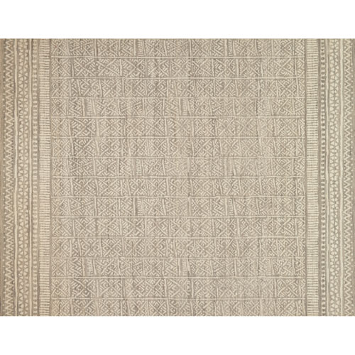 Crafted by Loloi Tribu Stone Ivory Rectangle: 5 Ft. x 7 Ft. 6 In. Rug