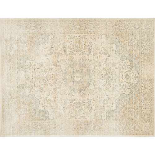 Crafted by Loloi Trousdale Sand Blue Rectangle: 6 Ft. x 8 Ft. 8 In. Rug