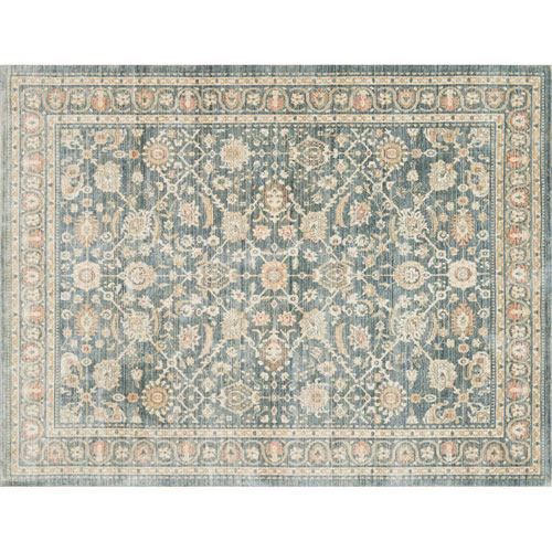 Crafted by Loloi Trousdale Blue Round: 7 Ft. 10 In. x 7 Ft. 10 In. Rug