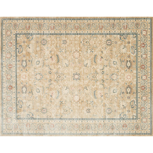 Crafted by Loloi Trousdale Desert Blue Rectangle: 3 Ft. 11 In. x 5 Ft. 7 In. Rug