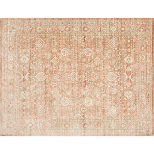 Crafted by Loloi Trousdale Rust Rectangle: 9 Ft. 3 In. x 13 Ft. 3 In. Rug